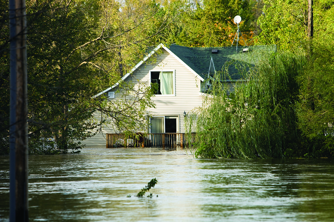 """Flooded House, Following a Severe Rainstorm"""